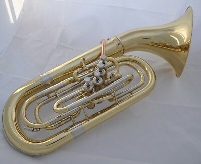 Professional Gold Lacquer Euphonium Bb 4 Piston 290mm Detached bell  SPECIAL