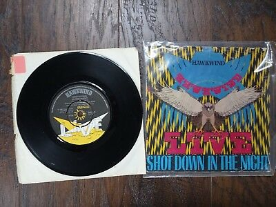Hawkwind Live Shot Down In The Night Urban Guerilla 45 Record 6C2
