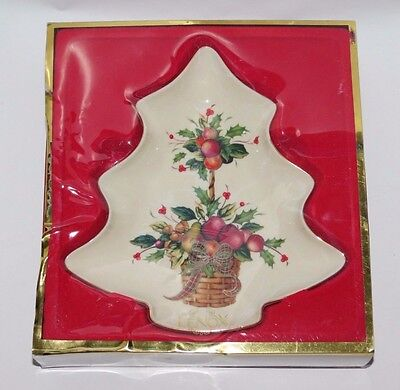 Lenox Winter Greetings Tree Candy Dish with Box