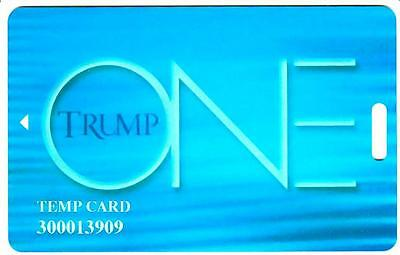 TRUMP PLAZA casino*BLUE TEMPORARY TRUMP ONE CARD*blank HTF*AC Slot/Players card