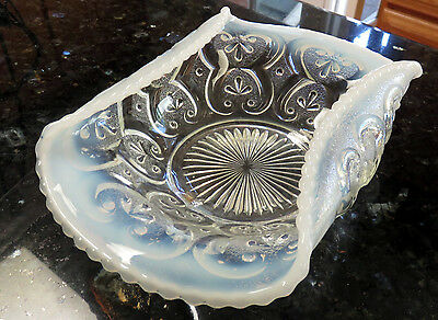 Northwood CASHEWS 2-Sides-Rolled-In Opalescent Glass Bowl circa 1905*Victorian