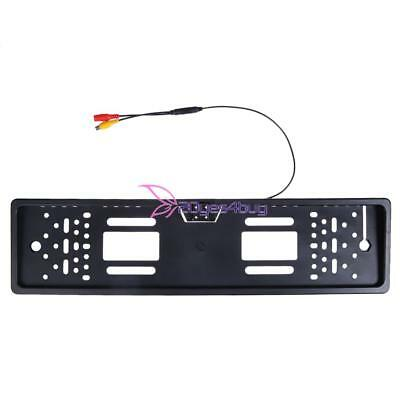 EU Car License Plate Frame Rear View Reverse Backup Night Vision Camera Parking