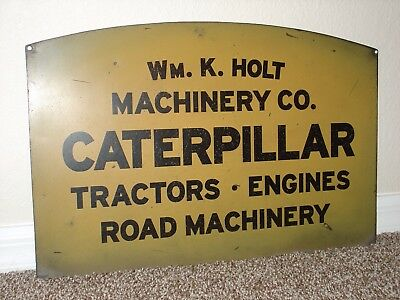 Original Caterpillar Tractor Sign John Deere Indian Ford Chevy Farm Harvester