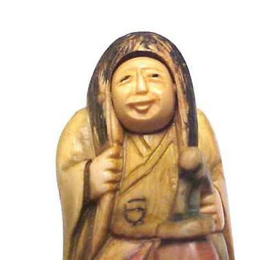 Unique Antique Carved Netsuke Flipping Face Signed