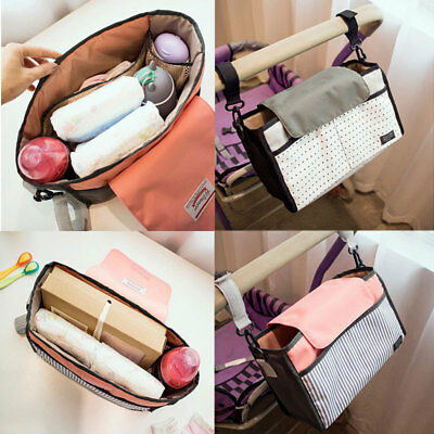 Kids Baby Stroller Safe Console Tray Pram Hanging Bag Bottle Cup Holder