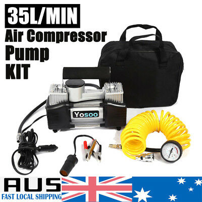 150PSI Electric Portable Air Compressor 12V Offroad 4x4WD Tyre Deflator Inflator