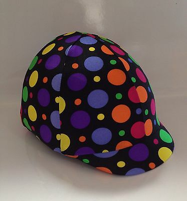 Horse Helmet Cover Multi Coloured Circus Lycra AUSTRALIAN  MADE