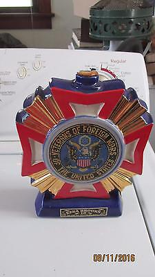 Vintage Ezra Brooks VFW Veterans Of Foreign Wars Whisky Decanter