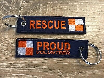 SES, Rescue Keychain, Volunteer, Proud, Australia, Embroidery