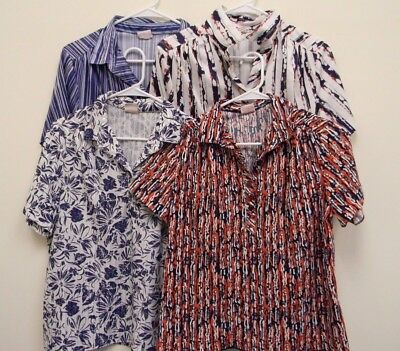 Vintage Graff California Polyester Shirts Set of 4 Size M/L