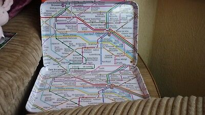 A pair of melamine FRENCH METRO MAP serving trays