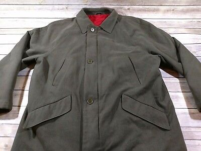 Barneys New York Mens Green Winter jacket Size 50 Cotton Wool Polyerster Italy