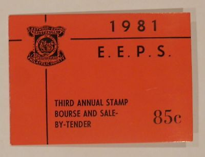 1981 85 cents EEPS Eastwood Epping Third Annual Stamp Bourse Red Booklet Mint