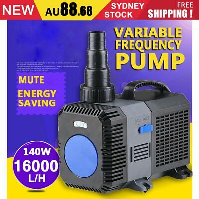 16000L/H Submersible Aqua Aquarium Fountain Pond Marine Water Pump Fish Tank AUS