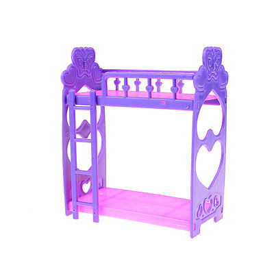 Mini Plastic bed for barbie doll kelly doll play house accessories gift LE
