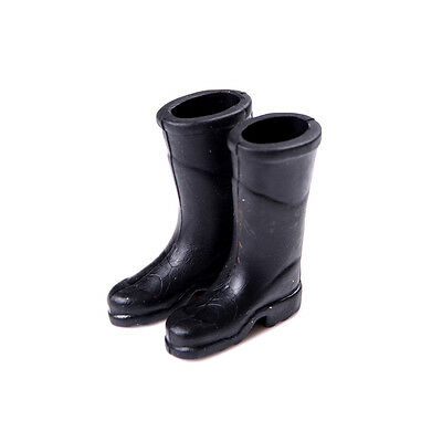 1Pair Mini Garden  Rubber Rain Boots For 1/12 Dollhouse Furniture Home Decor#&