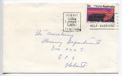 AUSTRALIA 1970: small commercial cover w/ single 5c Standard Gauge Link franking