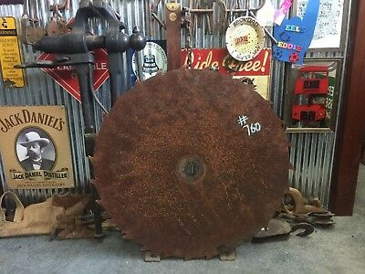 Vintage Industrial Rustic Milling Saw Blade Bar Man Shed item #760