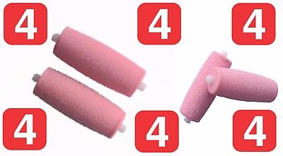 4 Compatible Rouleaux de Recharge Rape Scholl Velvet Smooth Express Pédi Diamant