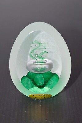 OEUF SULFURE PAPERWEIGHT CRISTAL opaque LEIXUS XXe Cristopol N° 33 COLLECTION