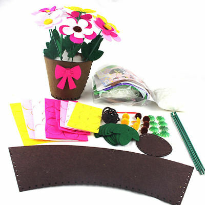 1X Artificial Potted Flower Bonsai Child Kids Handmade Educational Toy DIY Decor