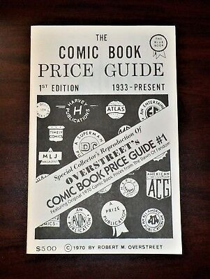 1970 Overstreet Comic Book Price Guide #1 / Reprint - 1993