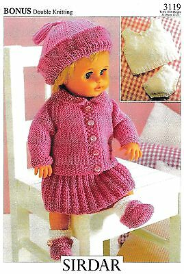COPY_Vintage Knitting Pattern  8Ply  Sirdar 3119   Fit 12-14,15-18,19-22 in Doll