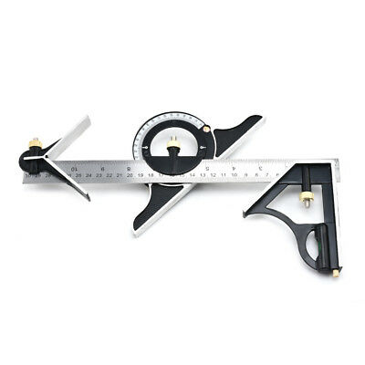 New Ruler Multi Combination Square Angle Finder Protractor Spirit Level Kit Set