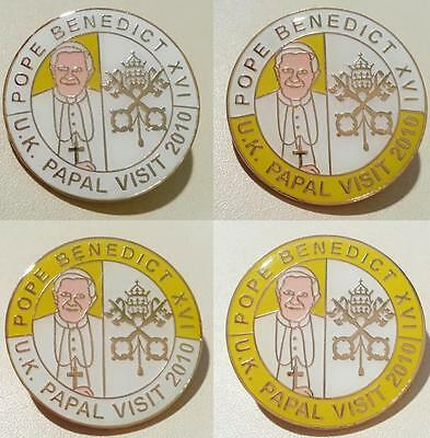 Pope Benedict Xvi Official 2010 Uk Papal Visit - Rare Badge Collection Postfree