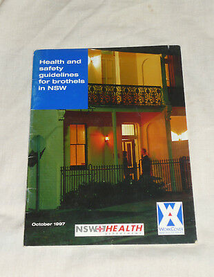 90s NSW BROTHEL Health & Safety Guidelines Brochure Oct 1997 Vintage Guide Book