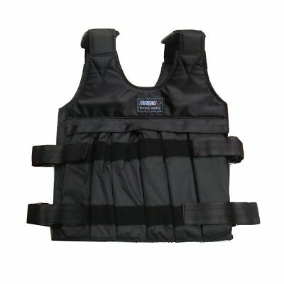10kg Max Load Weighted Vest Adjustable Jacket Exercise Boxing Training Waistcoat