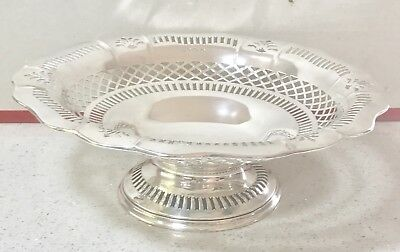 English Sterling Solid Silver Fruit Bowl , Birmingham, Hallmarked 1918