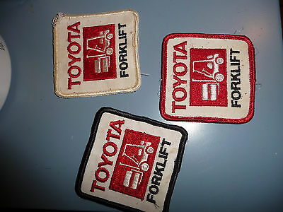 Toyota Forklift Embroidered Patch Equipment   3 Lot