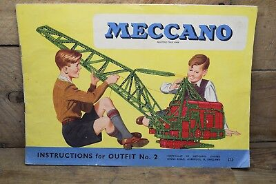 Vintage Mecano Instructions Outfit No2