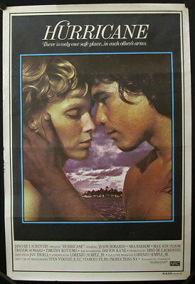 Hurricane (1979) Australian One Sheet MIA FARROW