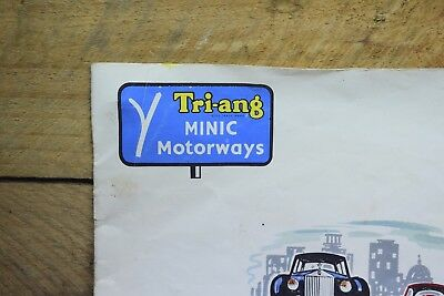 Vintage Tri-ang Minic Motorways 20 Pages Of Sets And Parts List