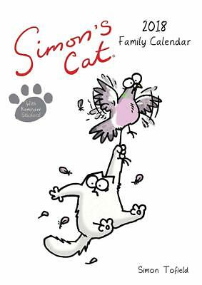 Simons Cat 2018 Calendar Family Planner Official Large A3 Size + Free Uk Postage