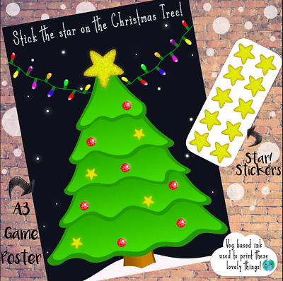Christmas Stick the Star on the Tree - Kids Family Activity Game - Stocking Fill