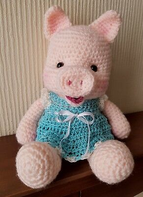 Hand Crocheted soft toy Piggy