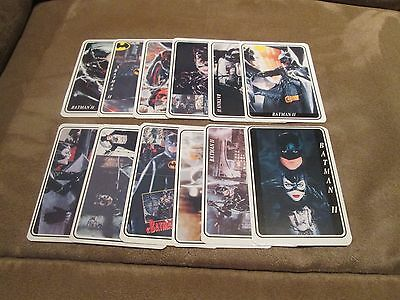 BATMAN II Complete Calendar Cards Set; Mint Set of 12; 1994;