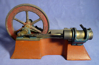 Dampfmaschine Heißluft Motor Stirlingmotor um 1900 vintage steam engine A175