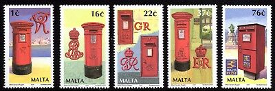 Malta 2004 Pillar / Letter Boxes Complete Set SG1344 - 1348 Unmounted Mint