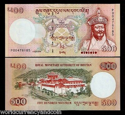 Bhutan 500 Ngultrum P33 2006 King Palace Unc Saarc Currency Bill Money Bank Note
