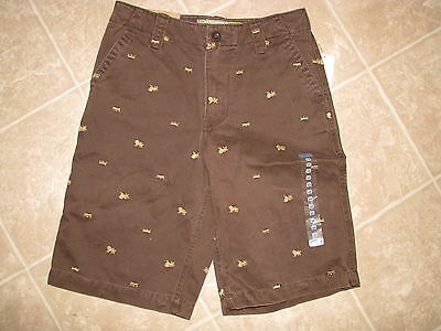 Old Navy Boy's Brown Plain Front Khaki Shorts - Size 12 - NWT