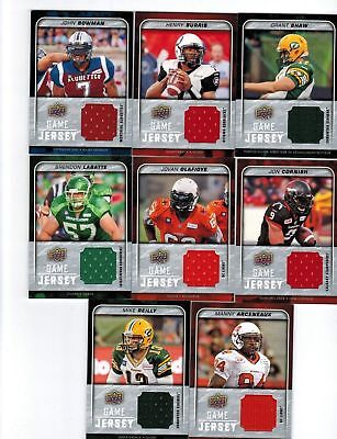 2015 Upper Deck CFL Football Game Jersey GJ-GS Grant Shaw Edmonton Eskimos