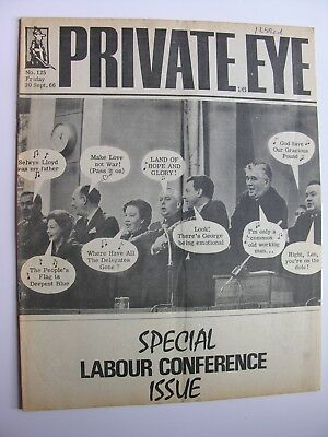 PRIVATE EYE 1966 30 September No 125 Labour Party Conference Ernest Hemingway