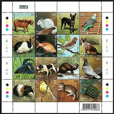 2006 Malta Pets Complete Set SG 1461 - 1476 Unmounted Mint