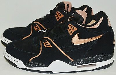 Men's Nike Air Flight 89 Black/Bronze Mens Basketball Shoes 306252 - Size: US10