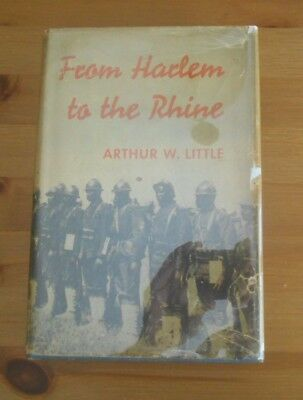 rare 1936 UNIT HISTORY BOOK 369TH INFANTRY REGIMENT NEW YORK HARLEM RHINE LITTLE