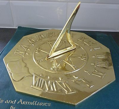 Black Country Metal Works - Octagonal Compass Point Brass Sundial..